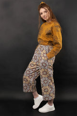 Dorian High Waist Printed Twill Pants Pants Ethical Sustainable Vegan Organic Australian fashion womens clothes