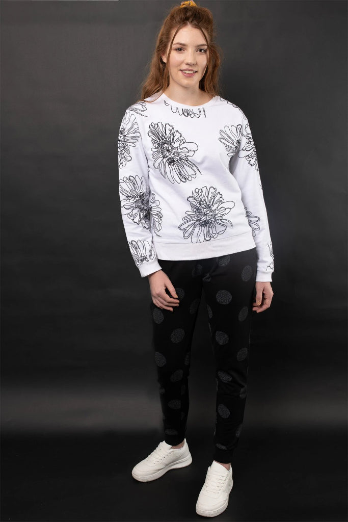 Leticia Embroidered Knit Sweatshirt Jumpers Ethical Sustainable Vegan Organic Australian fashion womens clothes
