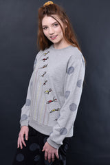Eloise Embroidered Knit Sweatshirt Jumpers Ethical Sustainable Vegan Organic Australian fashion womens clothes