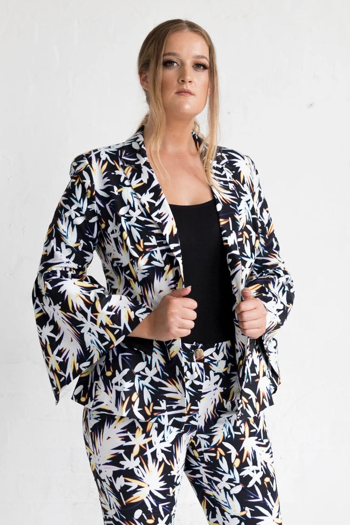 Cosmos Print Orchid Jacket Jackets Ethical Sustainable Vegan Organic Australian fashion womens clothes