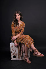 Bahnaz Floral Polka Dress