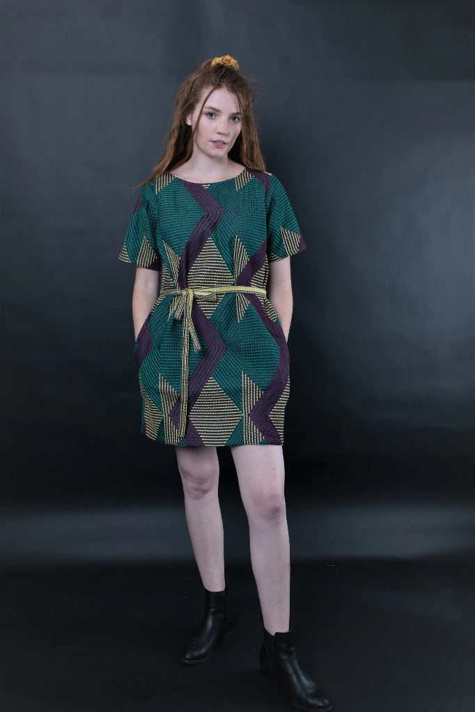 Donnatella Embroidered Shift Dress Dresses The Fashion Advocate ethical Australian fashion designer boutique Melbourne sustainable clothes