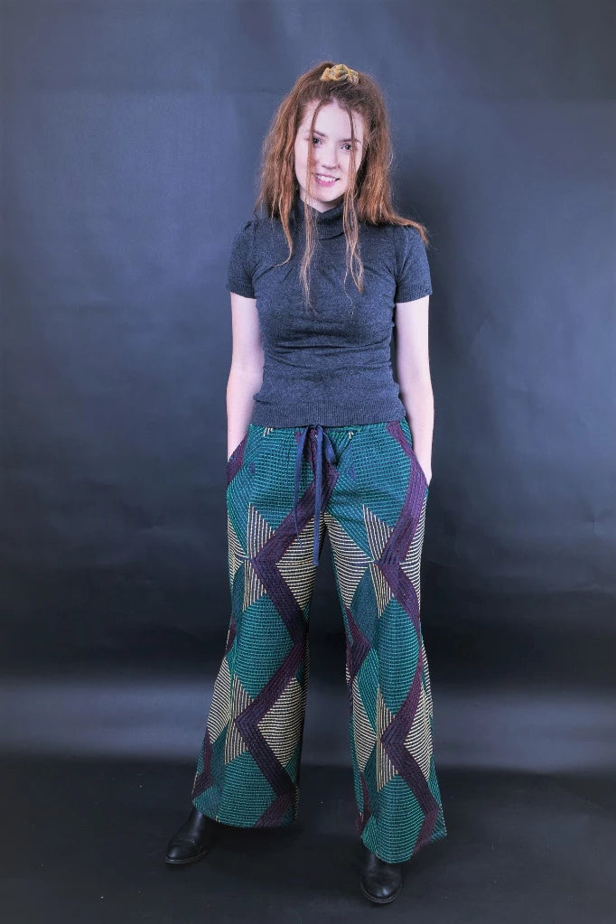 Donnatella Embroidered Wide-Leg Pants Pants The Fashion Advocate ethical Australian fashion designer boutique Melbourne sustainable clothes
