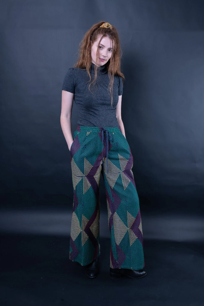 Donnatella Embroidered Wide-Leg Pants Pants Ethical Sustainable Vegan Organic Australian fashion womens clothes