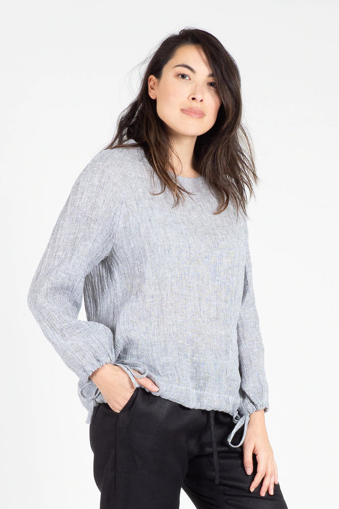 Marle Linen Raglan Sleeve Top Shirts + tops Ethical Sustainable Vegan Organic Australian fashion womens clothes