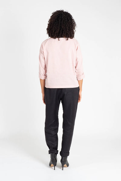 Pink Kimono Sleeve Top Shirts + tops The Fashion Advocate ethical Australian fashion designer boutique Melbourne sustainable clothes