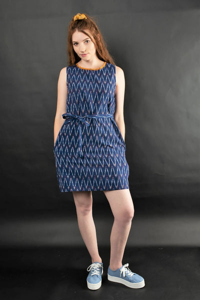 Fida Ikat Dress Dresses The Fashion Advocate ethical Australian fashion designer boutique Melbourne sustainable clothes