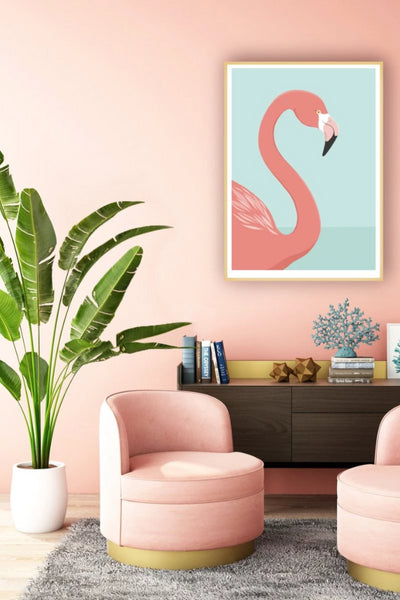 Flamingo Print Art + prints The Fashion Advocate ethical Australian fashion designer boutique Melbourne sustainable clothes