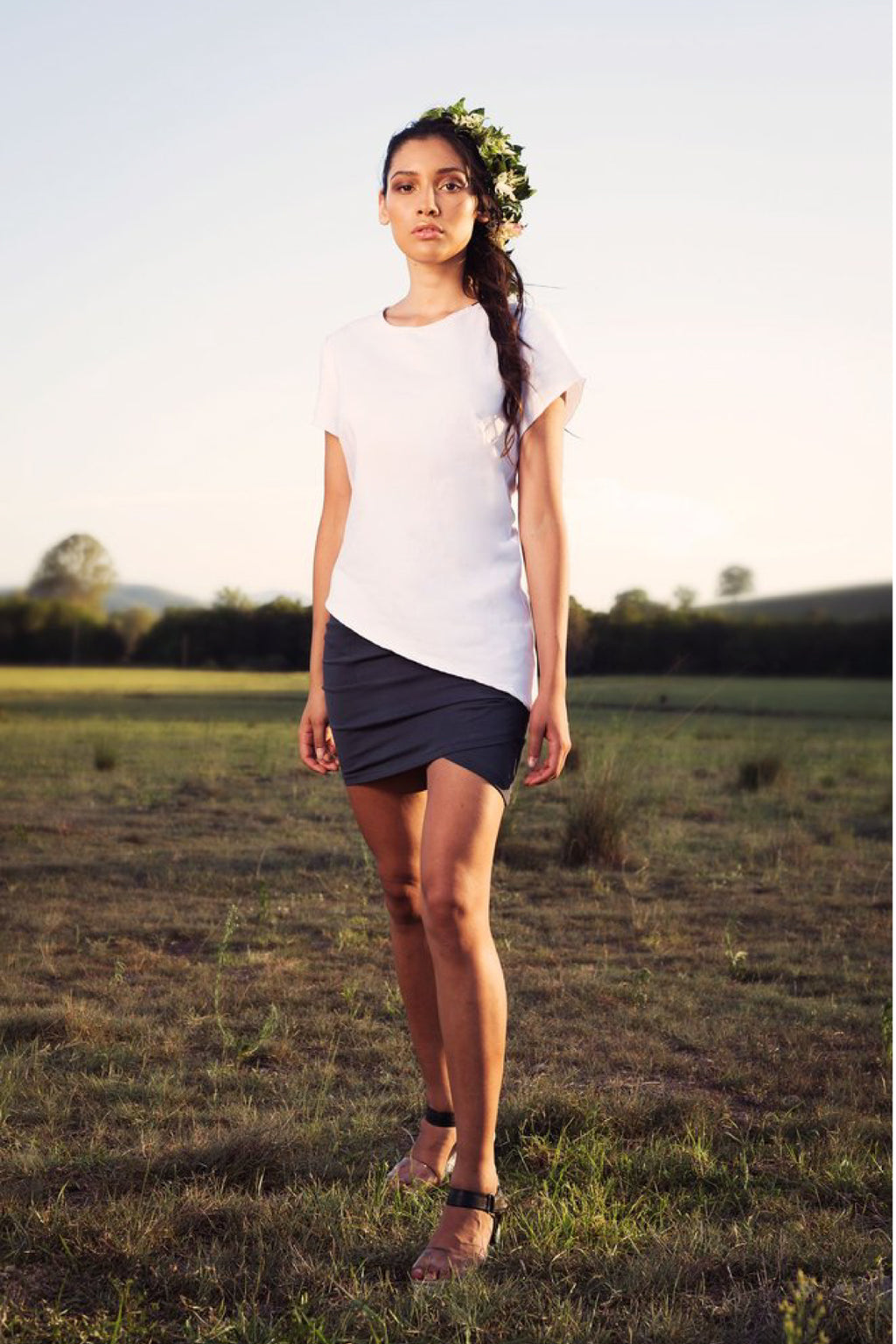 Twist Skirt Skirts Ethical Sustainable Vegan Organic Australian fashion womens clothes