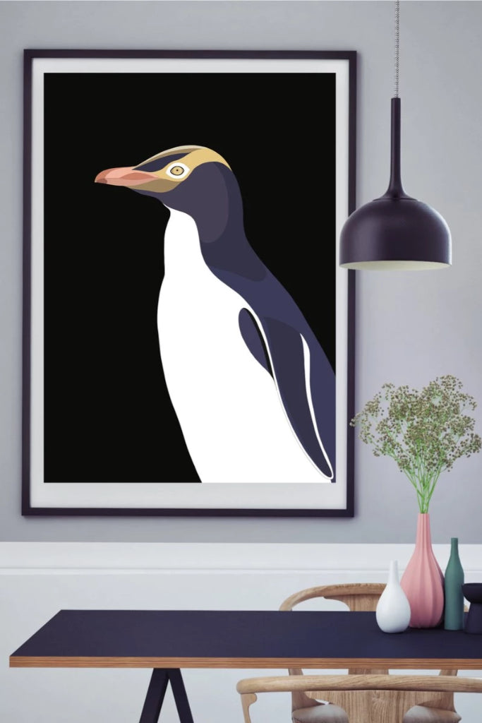 Yellow Eyed Penguin Print