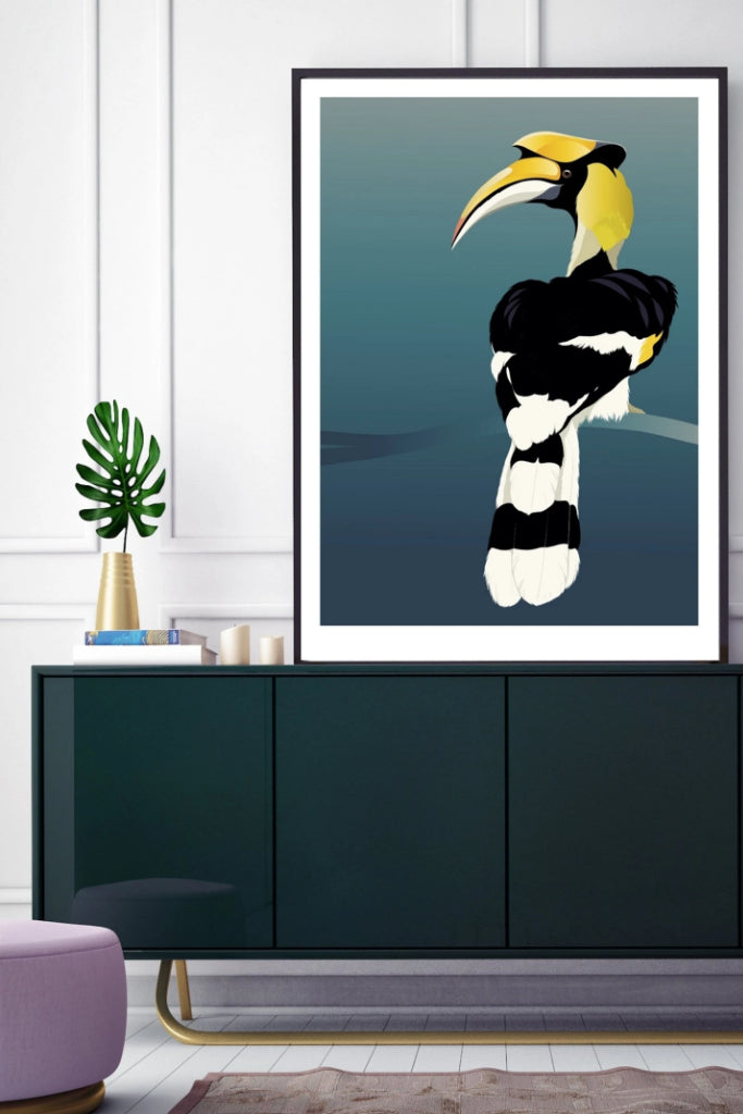 Hornbill Print Art + prints Ethical Sustainable Vegan Organic Australian fashion womens clothes