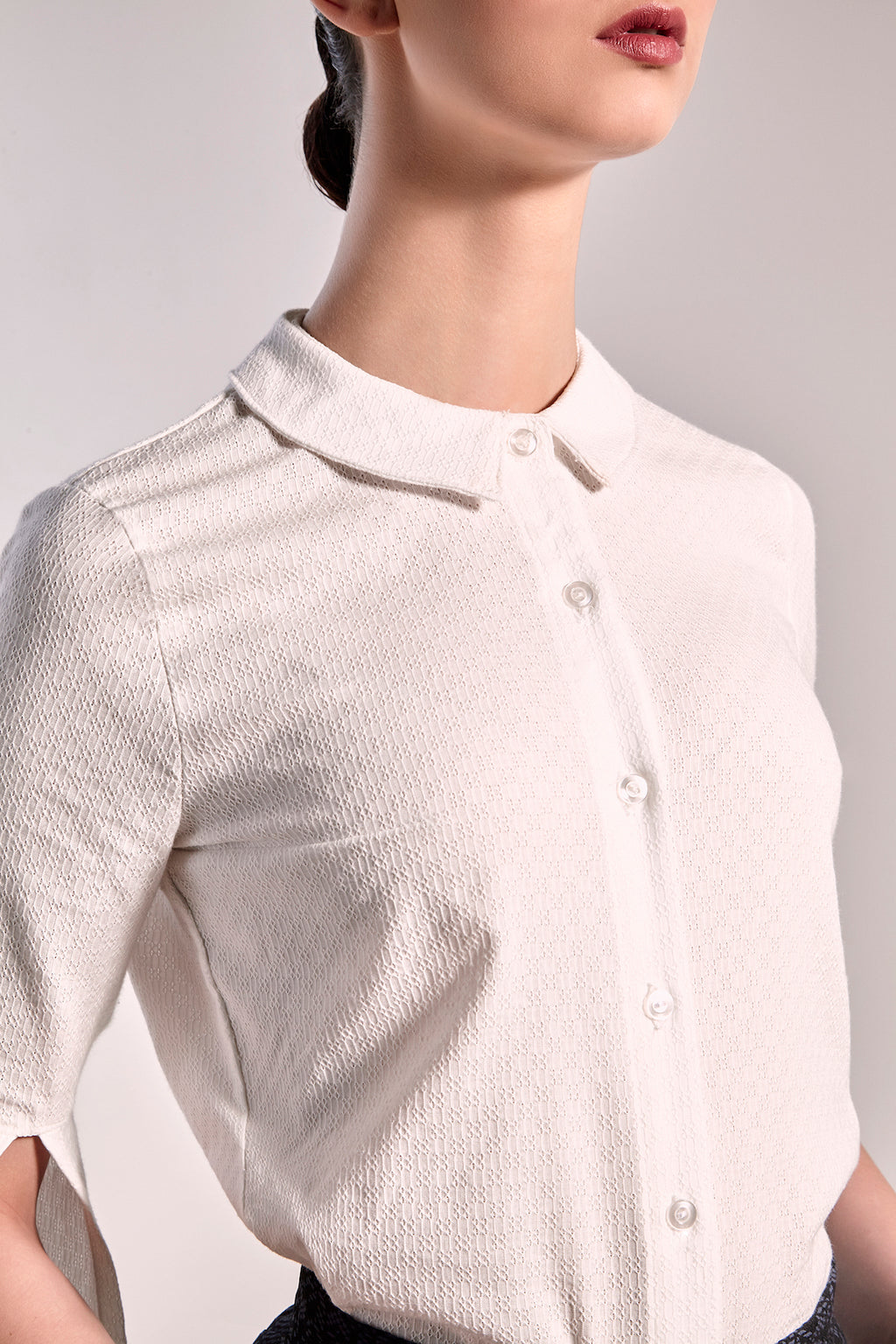 White Bergen Shirt Shirts The Fashion Advocate ethical Australian fashion designer boutique Melbourne sustainable clothes