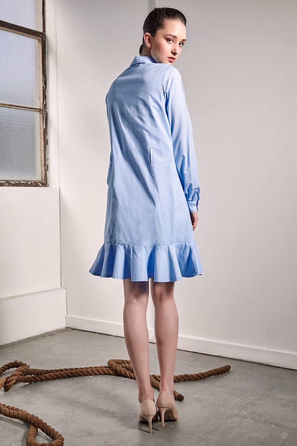 Baby Blue Uji Dress - Dresses - The Fashion Advocate - Ethical Australian fashion online like - Melbourne fashion blogger