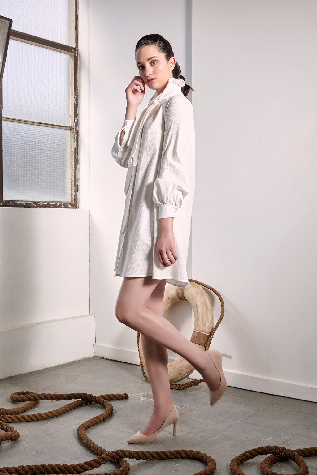 White Provence Dress Dresses The Fashion Advocate ethical Australian fashion designer boutique Melbourne sustainable clothes