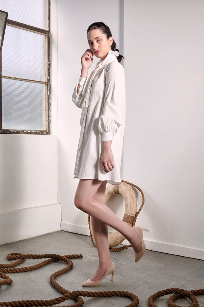 White Provence Dress - Dresses - The Fashion Advocate - Ethical Australian fashion online like - Melbourne fashion blogger