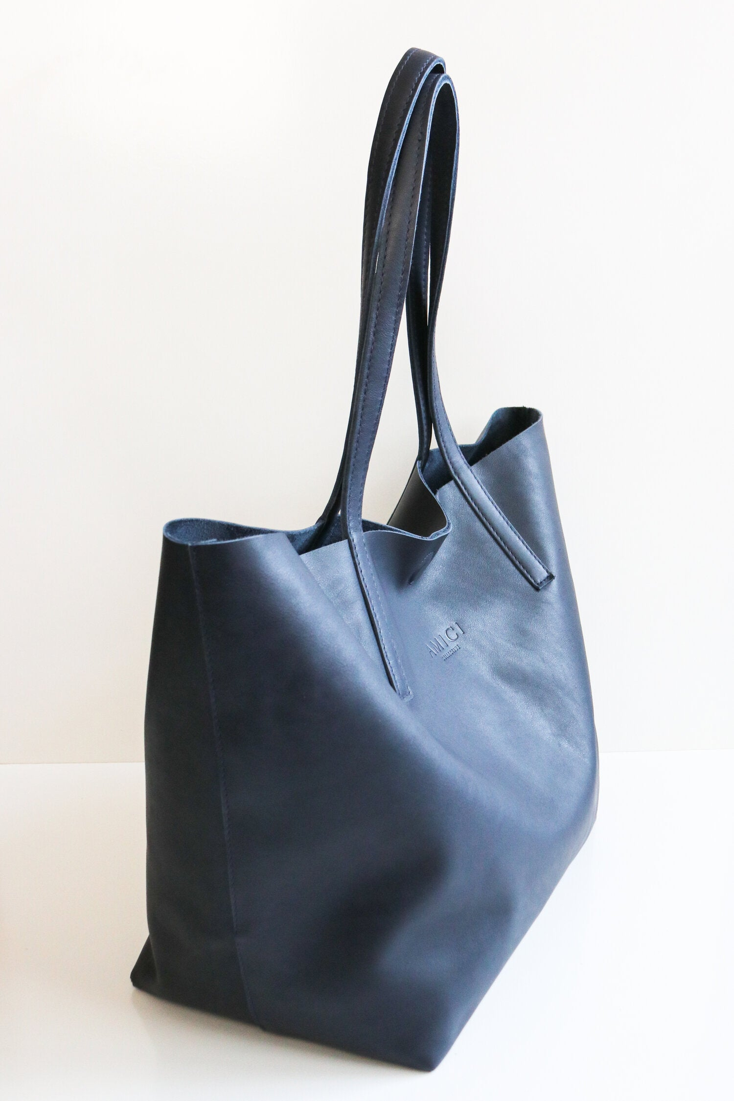 Navy Traveller Tote Bag Bags + wallets The Fashion Advocate ethical Australian fashion designer boutique Melbourne sustainable clothes