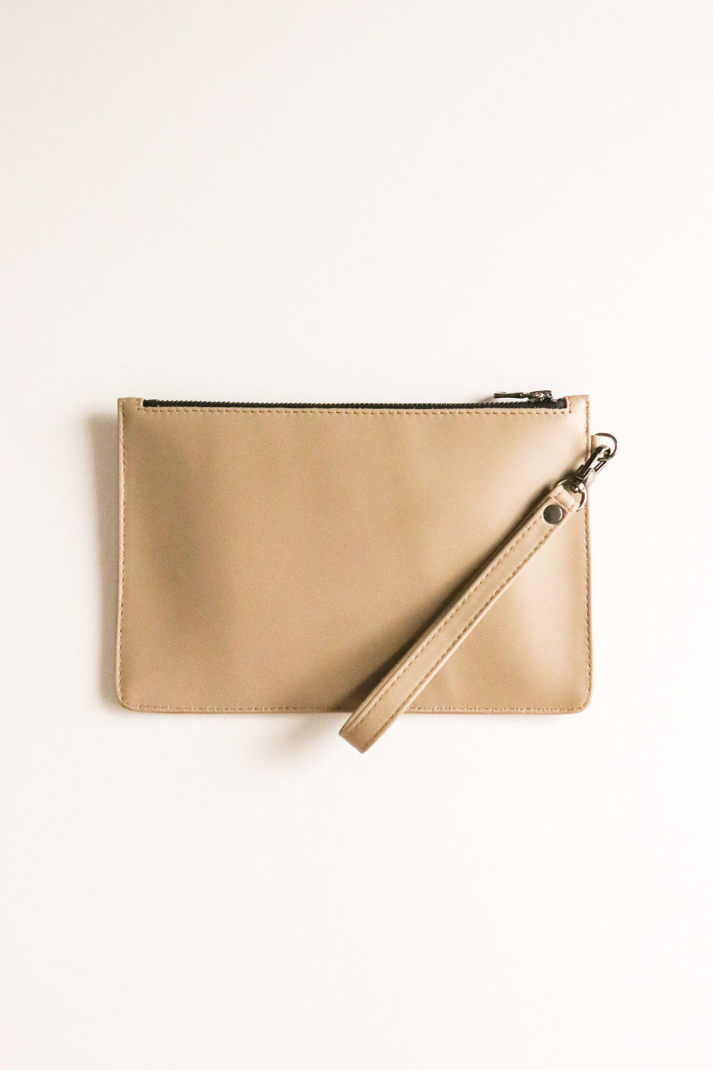 Taupe Jetsetter Clutch