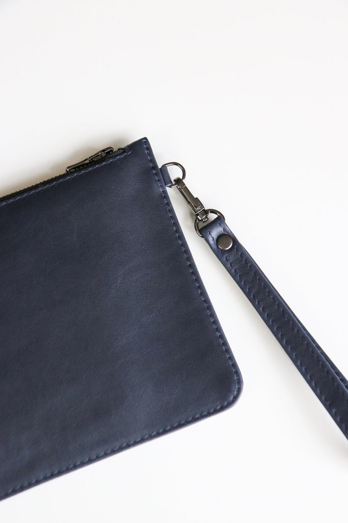Navy Jetsetter Clutch Bags + wallets The Fashion Advocate ethical Australian fashion designer boutique Melbourne sustainable clothes