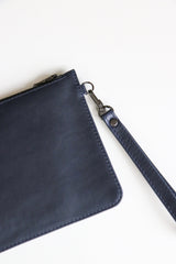 Navy Jetsetter Clutch Bags + wallets Ethical Sustainable Vegan Organic Australian fashion womens clothes