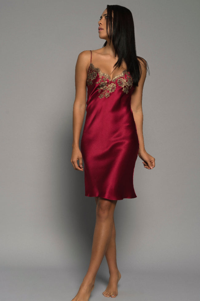 Cherry Gilded Rose Silk Chemise Sleepwear The Fashion Advocate ethical Australian fashion designer boutique Melbourne sustainable clothes