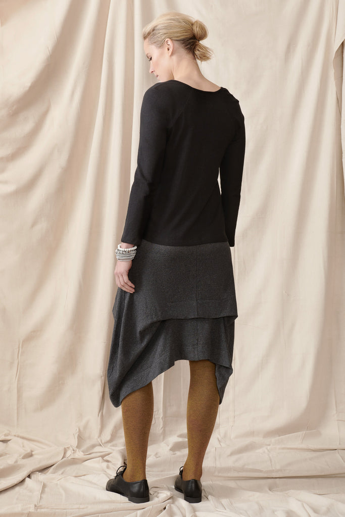 Geranium Top in Hemp Organic Cotton Stretch Knit Shirts + tops The Fashion Advocate ethical Australian fashion designer boutique Melbourne sustainable clothes