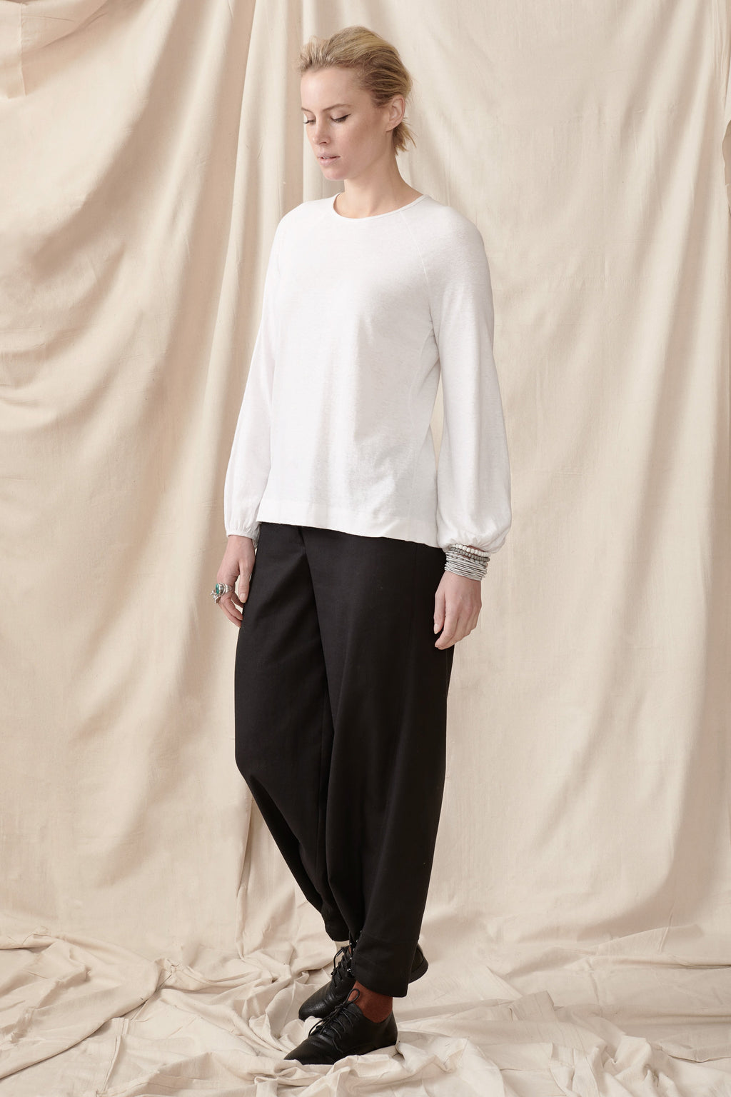 Ash Top in Hemp Organic Cotton Knit Shirts + tops Ethical Sustainable Vegan Organic Australian fashion womens clothes