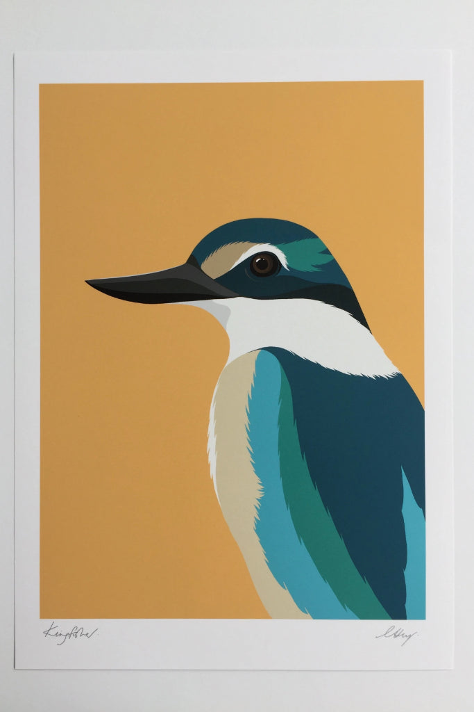 Kingfisher Print Art + prints Ethical Sustainable Vegan Organic Australian fashion womens clothes