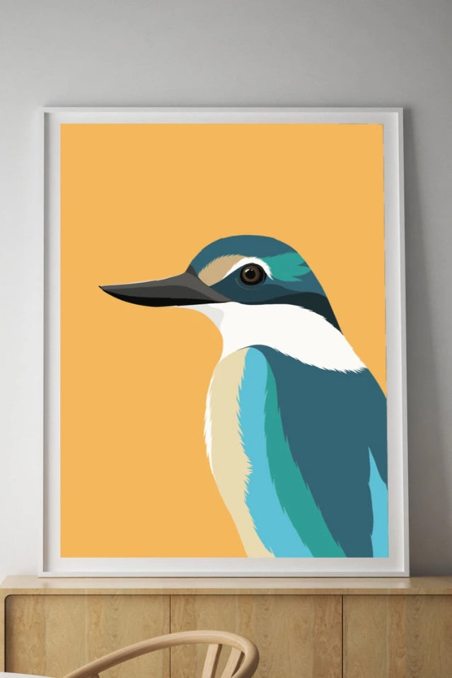 Kingfisher Print Art + prints The Fashion Advocate ethical Australian fashion designer boutique Melbourne sustainable clothes