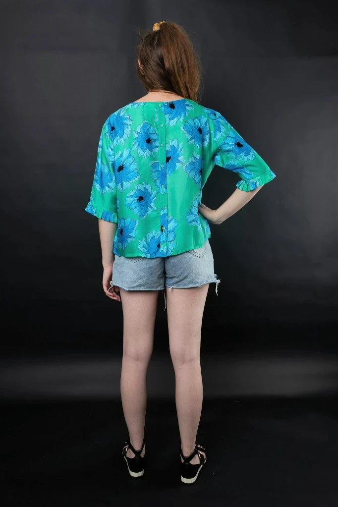 Lara Floral Top Shirts + tops The Fashion Advocate ethical Australian fashion designer boutique Melbourne sustainable clothes