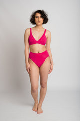 Linda Bikini Bottom Hot Pink Swimwear Ethical Sustainable Vegan Organic Australian fashion womens clothes