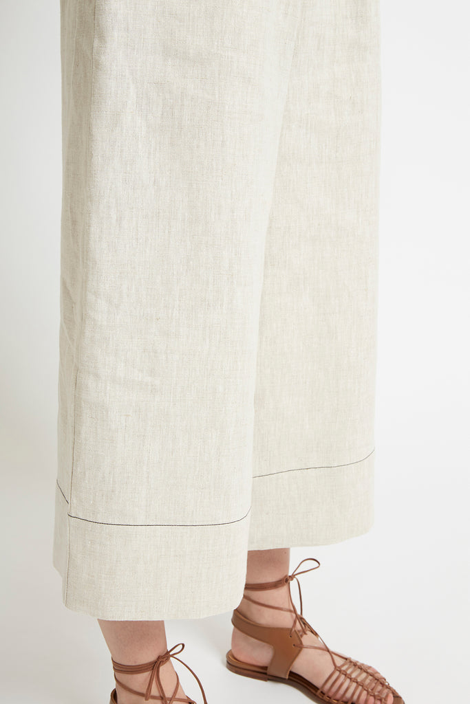 Natural Linen Wide Leg Pant Pants Ethical Sustainable Vegan Organic Australian fashion womens clothes