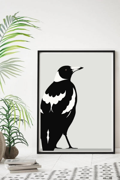 Magpie Print Art + prints The Fashion Advocate ethical Australian fashion designer boutique Melbourne sustainable clothes