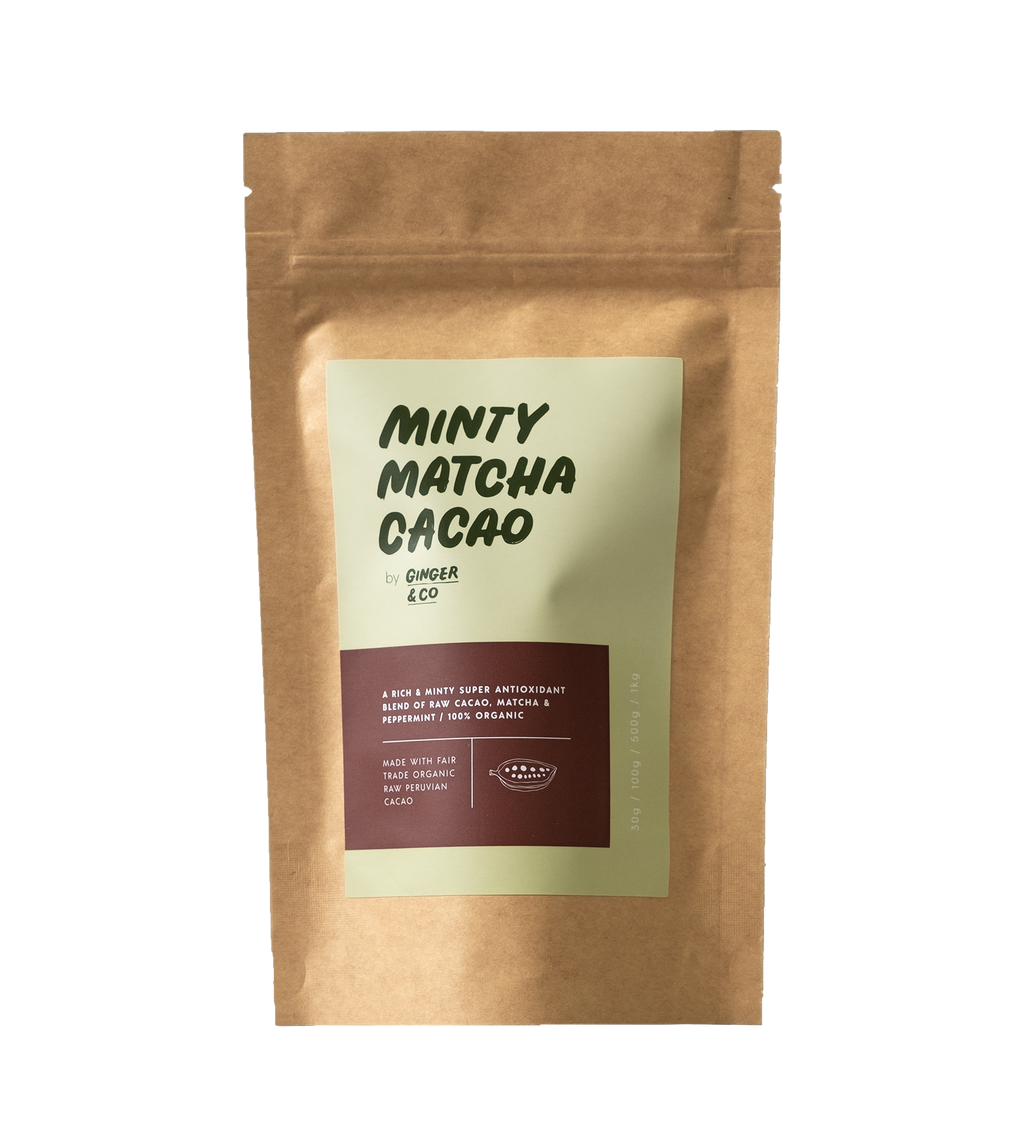 Minty Matcha Cacao Latte Health foods Ethical Sustainable Vegan Organic Australian fashion womens clothes
