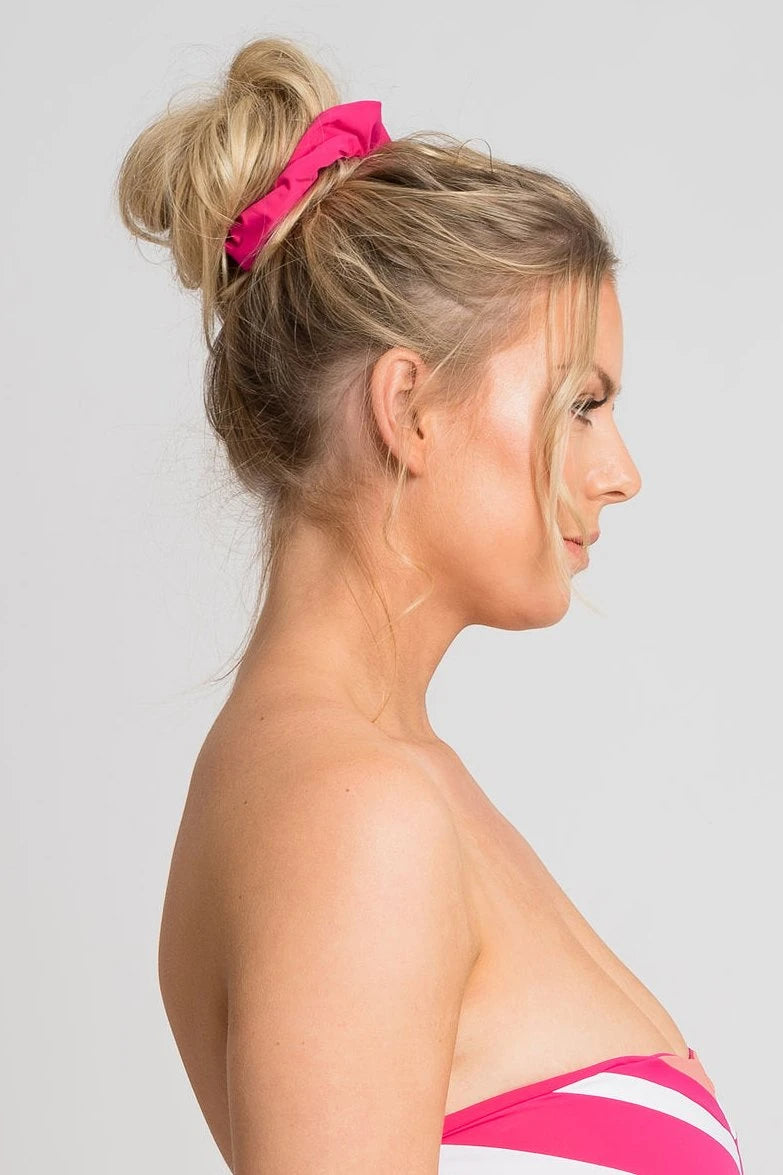 Moss Scrunchie Hot Pink Hair accessories Ethical Sustainable Vegan Organic Australian fashion womens clothes