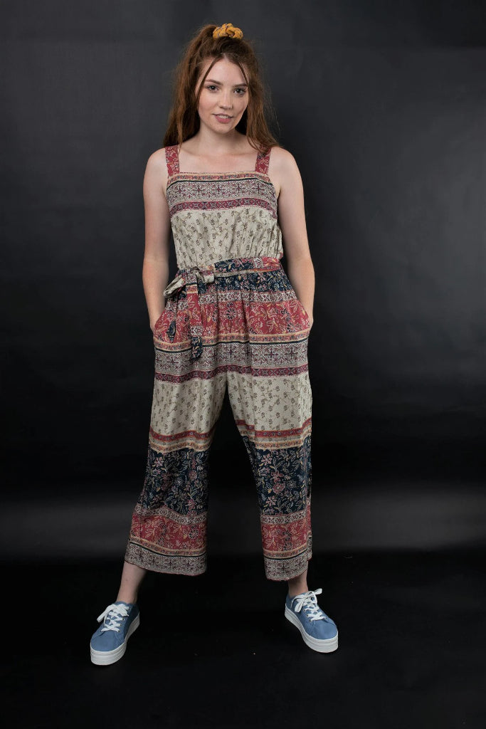 Niki Printed Jumpsuit Jumpsuits + playsuits Ethical Sustainable Vegan Organic Australian fashion womens clothes
