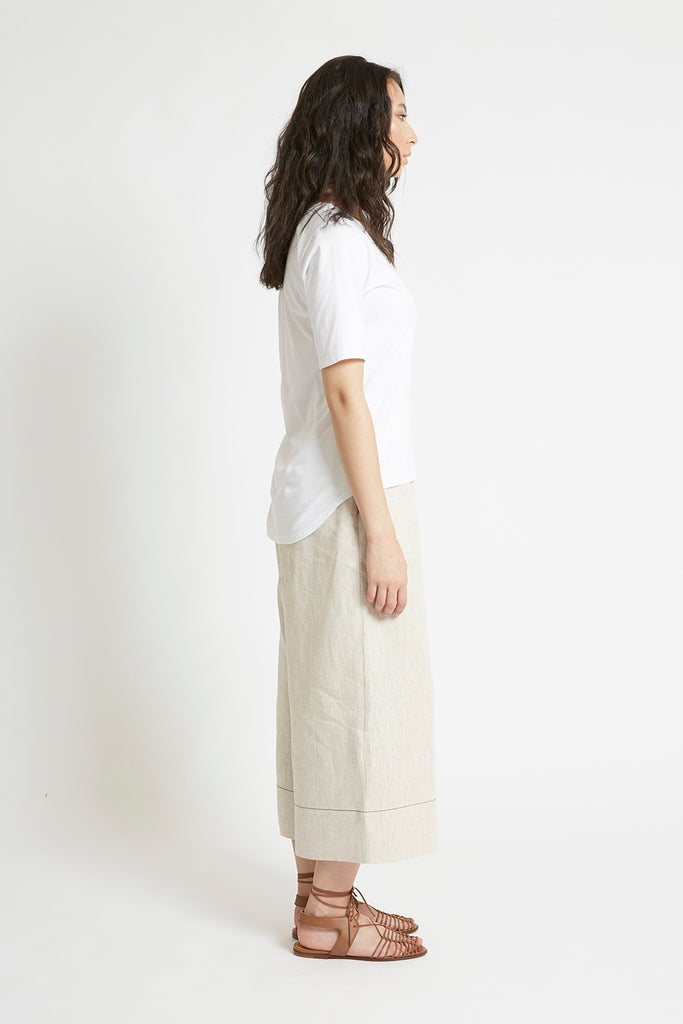 White Organic Cotton Scoop Neck T-Shirt-FRSKE-THE FASHION ADVOCATE-ethical sustainable Australian womens fashion online