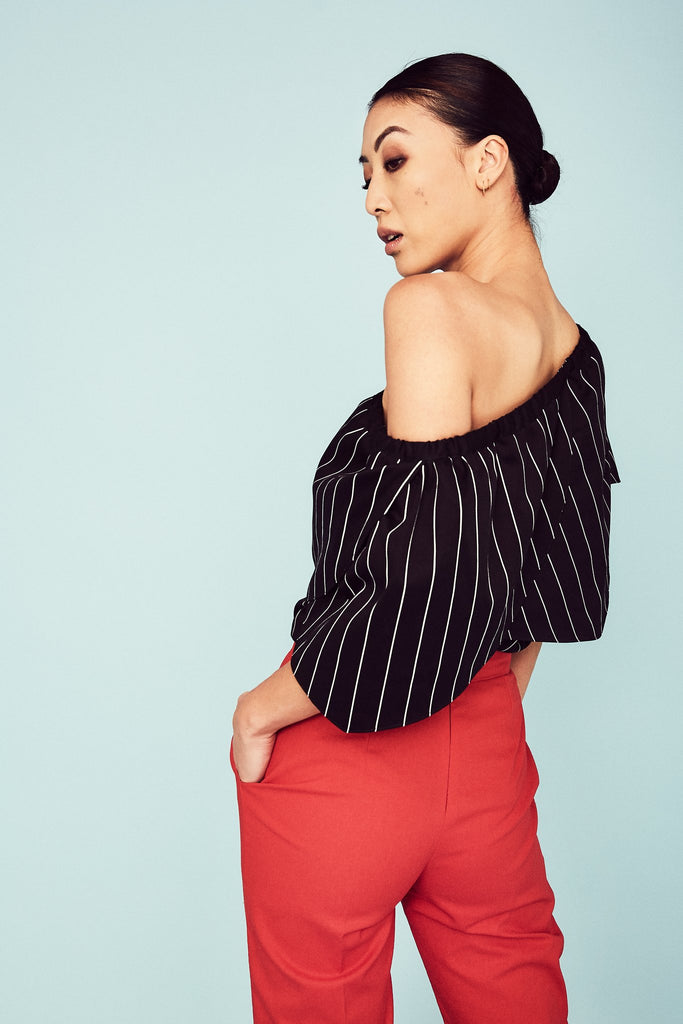 Striped Lotus Top