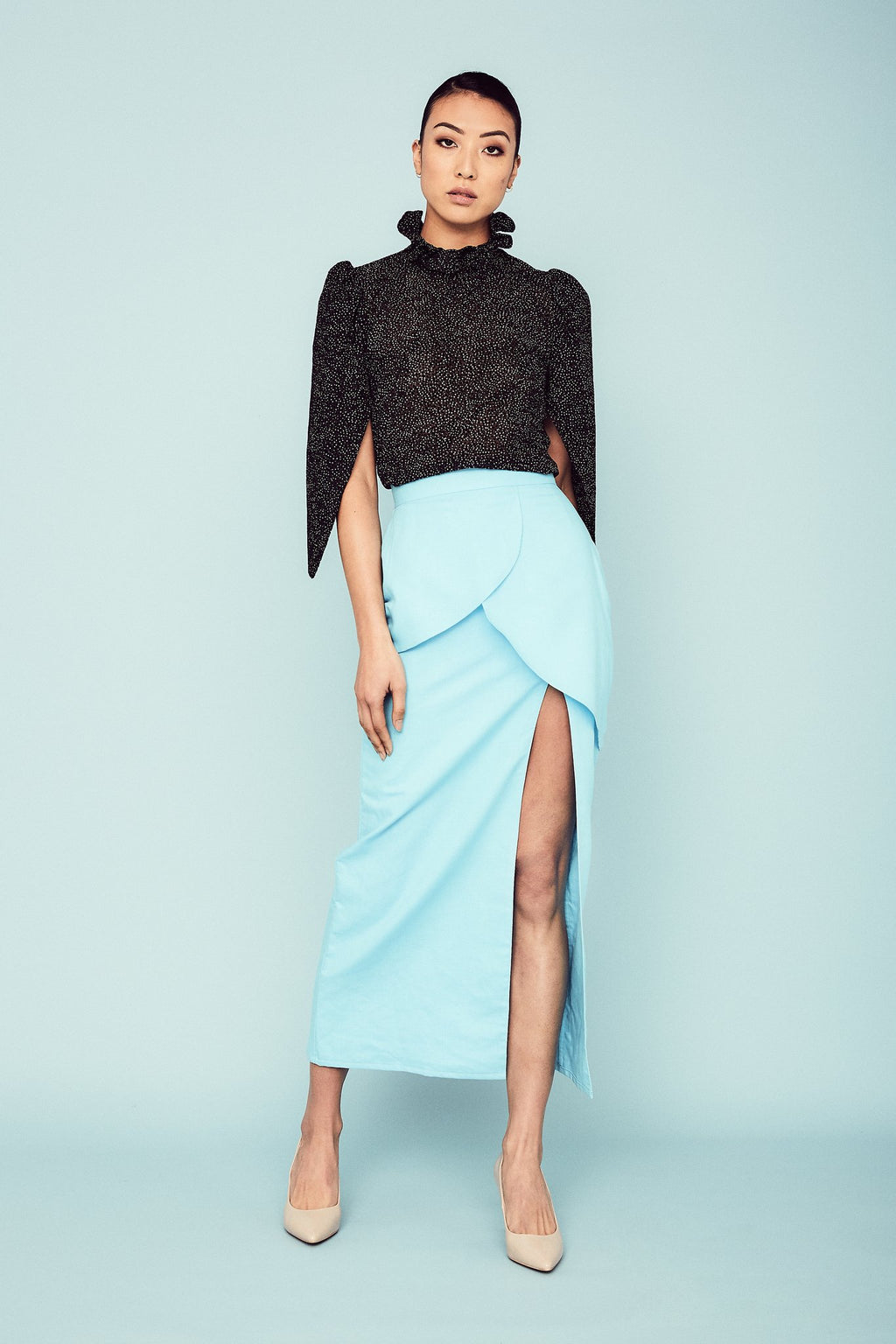 Aqua Divina Skirt Skirts The Fashion Advocate ethical Australian fashion designer boutique Melbourne sustainable clothes