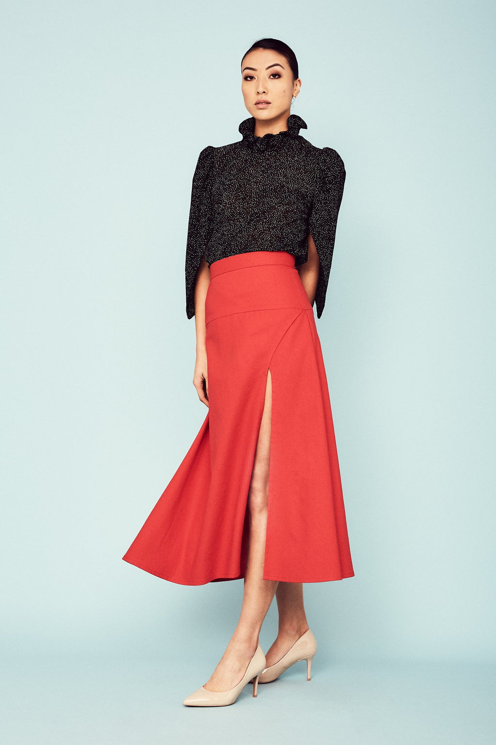 Red Maestra Skirt Two Skirts Ethical Sustainable Vegan Organic Australian fashion womens clothes