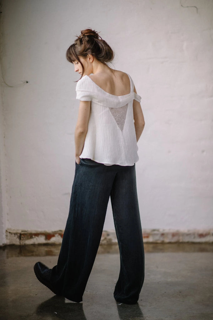 Peace Silk Sage Trouser Pants & Shorts The Fashion Advocate ethical Australian fashion designer boutique Melbourne sustainable clothes