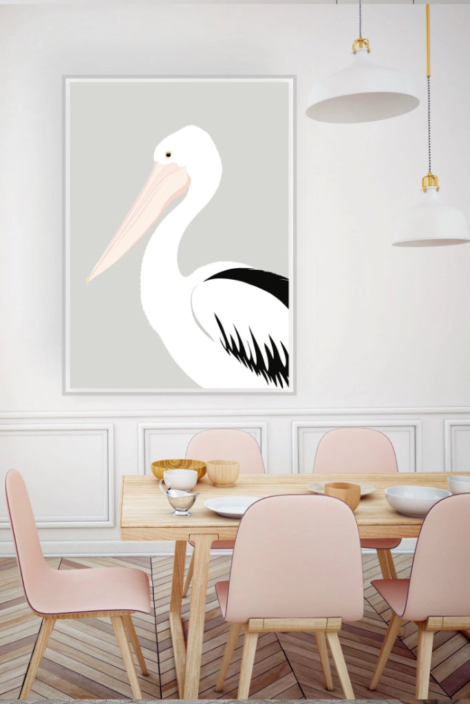 Pelican Grey Print Art + prints Ethical Sustainable Vegan Organic Australian fashion womens clothes