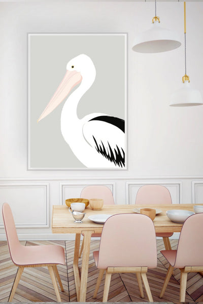 Pelican Grey Print Art + prints The Fashion Advocate ethical Australian fashion designer boutique Melbourne sustainable clothes