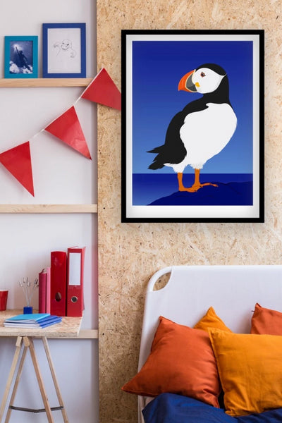 Puffin Print Art + prints Ethical Sustainable Vegan Organic Australian fashion womens clothes