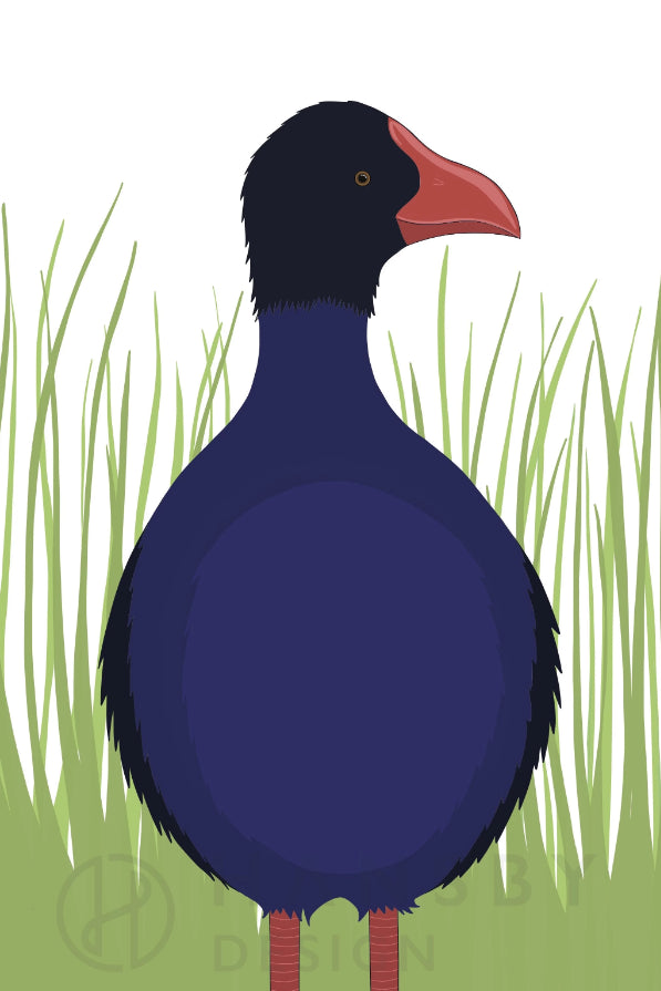 Pukeko Print Art + prints Ethical Sustainable Vegan Organic Australian fashion womens clothes