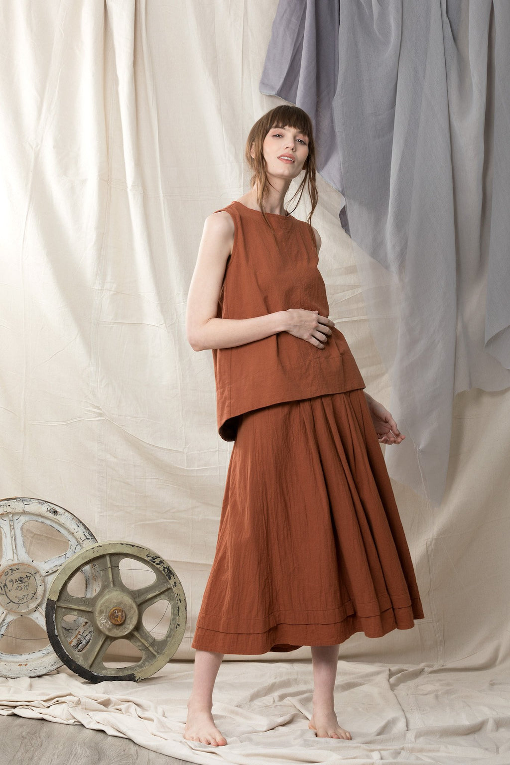 Copper Skirt Skirts Ethical Sustainable Vegan Organic Australian fashion womens clothes