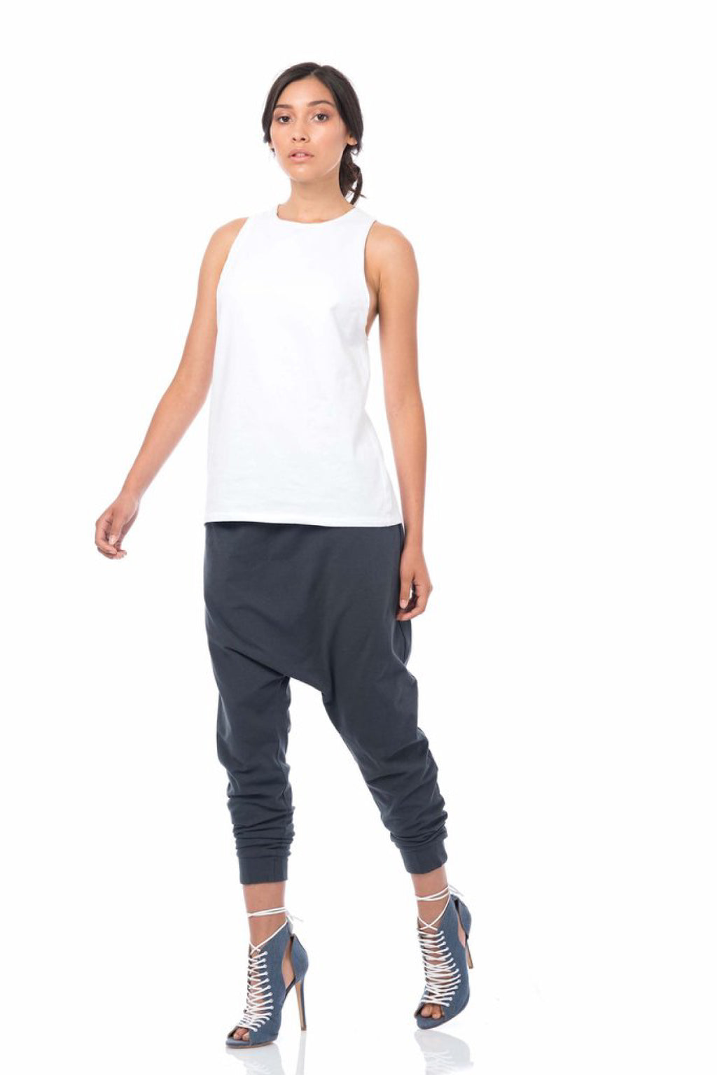 Raw Edge Singlet Shirts + tops Ethical Sustainable Vegan Organic Australian fashion womens clothes