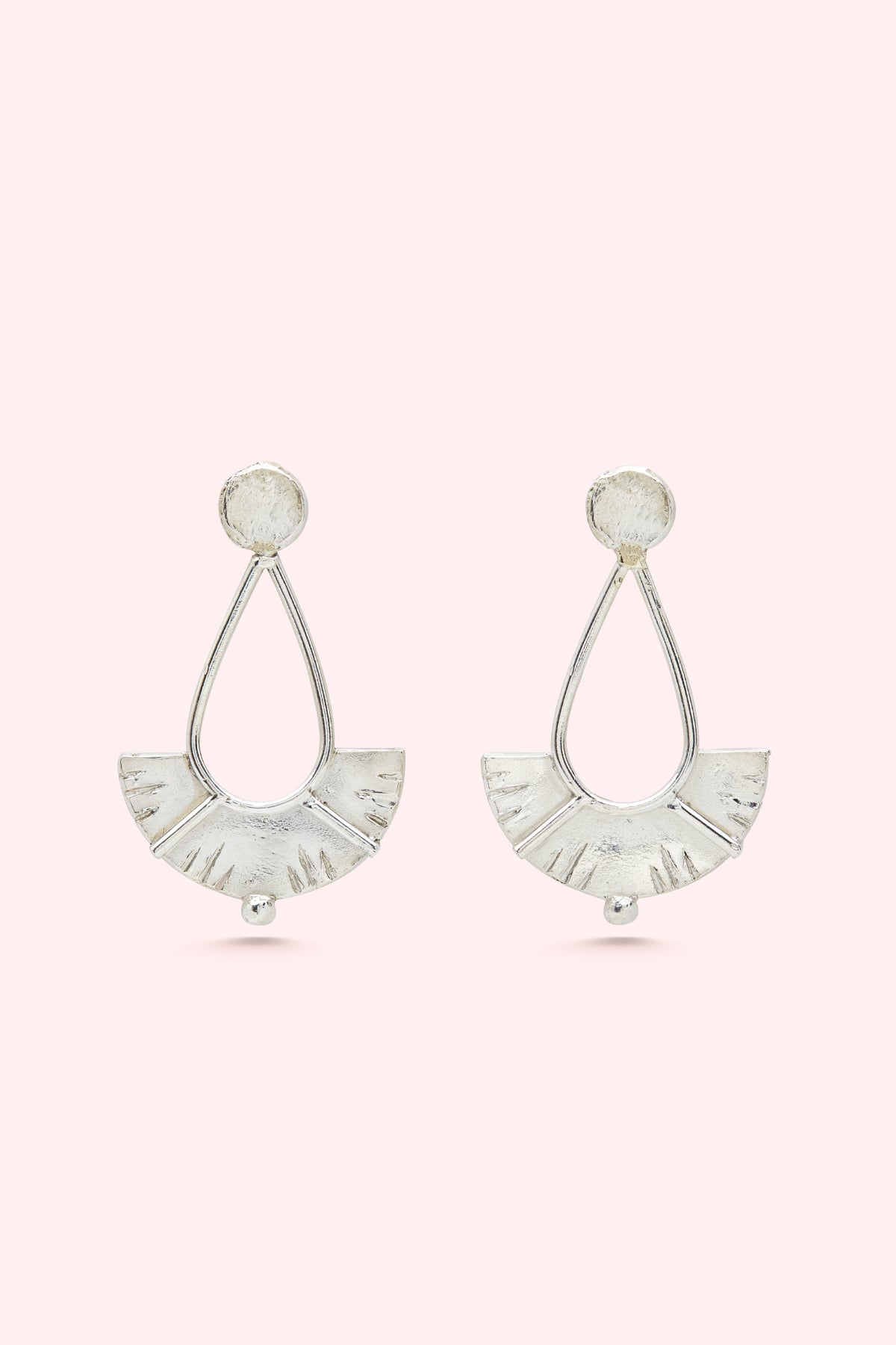 Silver Juno Drop Earrings Small-Meg Watson Jewellery-THE FASHION ADVOCATE-ethical sustainable Australian womens fashion online