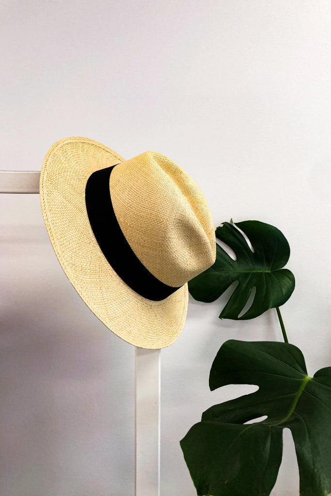 Sand Fedora Panama Hat Hats The Fashion Advocate ethical Australian fashion designer boutique Melbourne sustainable clothes