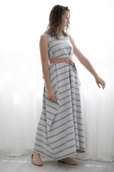 Repurposed Longline Wrap Dress