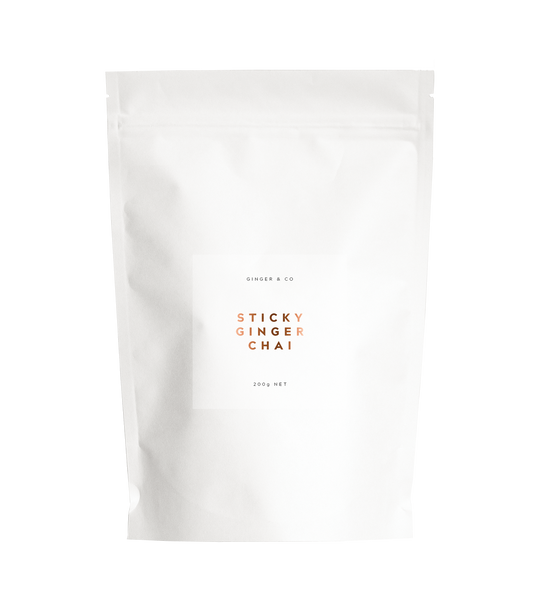 Sticky Ginger Chai Health foods Ethical Sustainable Vegan Organic Australian fashion womens clothes